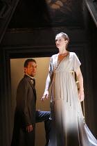 THE WINTER'S TALE   by Shakespeare   design: Jon Bausor   lighting : Jon Clark   director: David Farr ~Greg Hicks (Leontes), Kelly Hunter (Hermione, as statue)~Royal Shakespeare Company (RSC) / Courty...
