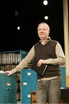 ALPHABETICAL ORDER   by Michael Frayn   ~design: Janet Bird   lighting: Tim Mitchell   director: Christopher Luscombe  ~Christopher Luscombe - director~Hampstead Theatre (HT), London NW3        21/04/...