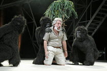 PEER GYNT   by Ibsen   adapted by Colin Teevan   design: Naomi Wilkinson   lighting: Chris Davey   director: Dominic Hill   Gerry Mulgrew (Old Peer) with gorillas National Theatre of Scotland & Dund...