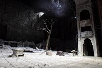WAITING FOR GODOT   by Samuel Beckett   design: Stephen Brimson Lewis   lighting: Paul Pyant   director: Sean Mathias ~~set   stage   tree   props   ~Theatre Royal Haymarket, London SW1   06/05/2009