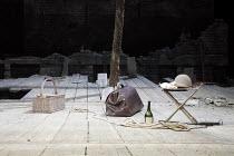 WAITING FOR GODOT   by Samuel Beckett   design: Stephen Brimson Lewis   lighting: Paul Pyant   director: Sean Mathias ~~set   stage   tree   props   ~Theatre Royal Haymarket (TRH), London SW1...