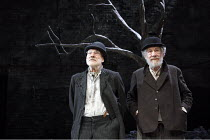 WAITING FOR GODOT   by Samuel Beckett   design: Stephen Brimson Lewis   lighting: Paul Pyant   director: Sean Mathias ~~l-r: Patrick Stewart (Vladimir), Ian McKellen (Estragon)~Theatre Royal Haymarket...