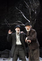 WAITING FOR GODOT   by Samuel Beckett   design: Stephen Brimson Lewis   lighting: Paul Pyant   director: Sean Mathias   l-r: Patrick Stewart (Vladimir), Ian McKellen (Estragon)    Theatre Royal Hay...