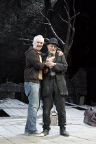 WAITING FOR GODOT   by Samuel Beckett   design: Stephen Brimson Lewis   lighting: Paul Pyant   director: Sean Mathias ~~l-r: Sean Mathias (director), Patrick Stewart (Vladimir)~Theatre Royal Haymarket...