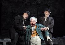 WAITING FOR GODOT   by Samuel Beckett   design: Stephen Brimson Lewis   lighting: Paul Pyant   director: Sean Mathias ~~l-r: Patrick Stewart (Vladimir), Simon Callow (Pozzo), Ian McKellen (Estragon)...