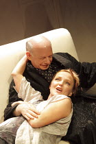 GRASSES OF A THOUSAND COLOURS   by Wallace Shawn    design: Eugene Lee   lighting: Howard Harrison   director: Andre Gregory   Miranda Richardson (Cerise), Wallace Shawn (The Memoirist / Ben ) Jerw...