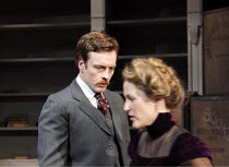 A DOLL'S HOUSE   by Ibsen   in a new version by Zinnie Harris   design: Anthony Ward   lighting: Hugh Vanstone   director: Kfir Yefet ~Toby Stephens (Thomas), Gillian Anderson (Nora)~Donmar Warehouse...