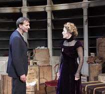 A DOLL'S HOUSE   by Ibsen   in a new version by Zinnie Harris   ~design: Anthony Ward   lighting: Hugh Vanstone   director: Kfir Yefet ~Christopher Eccleston (Neil Kelman), Gillian Anderson (Nora)~Don...
