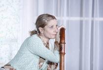 AUNT DAN AND LEMON   by Wallace Shawn   design: Lizzie Clachan   lighting: Jon Clark   director: Dominic Cooke   Jane Horrocks (Lemon)    Jerwood Theatre Downstairs / Royal Court Theatre (RC), Lond...