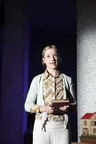 AUNT DAN AND LEMON   by Wallace Shawn    design: Lizzie Clachan   lighting: Jon Clark   director: Dominic Cooke   Jane Horrocks (Lemon)    Jerwood Theatre Downstairs / Royal Court Theatre (RC), Lo...