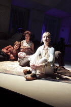 AUNT DAN AND LEMON   by Wallace Shawn   design: Lizzie Clachan   lighting: Jon Clark   director: Dominic Cooke   l-r: Lorraine Ashbourne (Aunt Dan), Paul Chahidi (Father), Mary Roscoe (Mother), Jane...