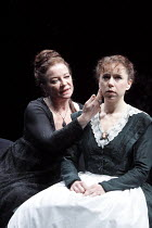 ALL'S WELL THAT ENDS WELL   by Shakespeare   ~design: Rae Smith   lighting: Peter Mumford   director: Marianne Elliott ~l-r: Clare Higgins (Countess of Rossillion), Michelle Terry (Helena)   ~Olivier...