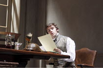 ARCADIA   by Tom Stoppard   set design: Hildegard Bechtler   costumes: Amy Roberts   lighting: Paul Anderson   director: David Leveaux ~~Dan Stevens (Septimus Hodge)~Duke of York's Theatre, London WC2...
