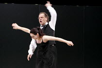 LULU   by Alban Berg   conductor: Antonio Pappano   design: Herbert Murauer & (costumes) Eva-Mareike Uhlig   lighting: Reinhard Traub   director: Christof Loy ~Agneta Eichenholz (Lulu), Michael Volle...