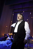 THE WINTER'S TALE   by Shakespeare   set design: Anthony Ward   costumes: Catherine Zuber   lighting: Paul Pyant   director: Sam Mendes ~Simon Russell Beale (Leontes)~The Bridge Project / Old Vic Thea...