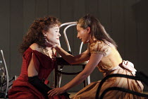 THE CHERRY ORCHARD   by Chekhov   in a new version by Tom Stoppard   set design: Anthony Ward   costumes: Catherine Zuber   lighting: Paul Pyant   director: Sam Mendes ~l-r: Sinead Cusack (Ranevskaya)...