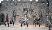 ROMEO AND JULIET   by Shakespeare   design: Libby Watson   director: Kate Saxon   centre: Stephen Billington (Capulet) Exeter Northcott & Ludlow Festival co-production / Ludlow Castle, Shropshire, E...