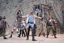 ROMEO AND JULIET   by Shakespeare   design: Libby Watson   director: Kate Saxon   centre: Stephen Billington (Capulet) with family & supporters Exeter Northcott & Ludlow Festival co-production / Lud...