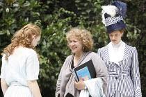 THE IMPORTANCE OF BEING EARNEST   by Oscar Wilde   design: Kevin Knight   director: Irina Brown ~centre: Irina Brown (director) with Lucy Briggs Owen (Cecily Cardew) & Jo Herbert (Gwendolen Fairfax)~O...