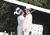THE IMPORTANCE OF BEING EARNEST   by Oscar Wilde   design: Kevin Knight   director: Irina Brown ~Jo Herbert (Gwendolen Fairfax), Dominic Tighe (Algernon Moncrieff)   ~Open Air Theatre (OAT) / Regent's...