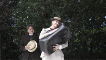 THE IMPORTANCE OF BEING EARNEST   by Oscar Wilde   design: Kevin Knight   director: Irina Brown ~Richard O'Callaghan (Rev. Canon Chasuble), Julie Legrand (Miss Prism)  ~Open Air Theatre (OAT) / Regent...