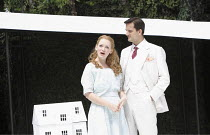 THE IMPORTANCE OF BEING EARNEST   by Oscar Wilde   design: Kevin Knight   director: Irina Brown ~Lucy Briggs Owen (Cecily Cardew), Ryan Kiggell (John Worthing)~Open Air Theatre (OAT) / Regent's Park,...