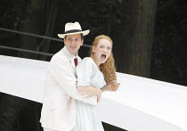 THE IMPORTANCE OF BEING EARNEST   by Oscar Wilde   design: Kevin Knight   director: Irina Brown ~Ryan Kiggell (John Worthing), Lucy Briggs Owen (Cecily Cardew)~Open Air Theatre (OAT) / Regent's Park,...