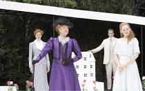 THE IMPORTANCE OF BEING EARNEST   by Oscar Wilde   design: Kevin Knight   director: Irina Brown ~l-r: Jo Herbert (Gwendolen Fairfax), Susan Wooldridge (Lady Bracknell), Dominic Tighe (Algernon Moncrie...