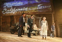 THE GRAPES OF WRATH   by John Steinbeck   adapted by Frank Galati   design: Simon Higlett   lighting: Tim Mitchell   director: Jonathan Church   front, l-r: Christopher Timothy (Pa Joad), Damian O'Ha...