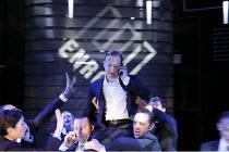 ENRON   by Lucy Prebble   design: Anthony Ward   lighting: Mark Henderson   director: Rupert Goold ~centre: Samuel West (Jeffrey Skilling)   ~Minerva Theatre / Chichester Festival Theatre (CFT) / West...