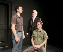 STOCKWELL   The inquest into the death of Jean Charles de Menezes   writer: Kieron Barry   director: Sophie Lifschutz   l-r: Will Irvine (Ivor), Jack Klaff (Mr Mansfield), Brendan Foster (James) Lan...