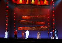 DAS RHEINGOLD   by Wagner   conductor: Valery Gergiev   stage design: George Tsypin   costumes: Tatiana Noginova   lighting: Gleb Filshtinsky   director: Alexander Zeldin   l-r: Larisa Diadkova (Fric...