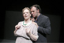 ANOTHER DOOR CLOSED   by Peter Gill   design: Jessica Curtis   lighting: Paul Pyant   director: Peter Gill   Marjorie Yates (Woman Two), Sean Chapman (Man) Peter Hall Company / Ustinov at the Theatr...