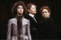 THREE SISTERS   by Chekhov   translated by Michael Frayn   design & lighting: John Bury   director: Elijah Moshinsky   l-r: Katharine Schlesinger (Irina), Sara Kestelman (Olga), Francesca Annis (Mash...