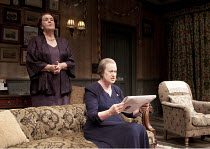 TABLE NO. 7 - SEPARATE TABLES   by Terence Rattigan   design: Stephen Brimson-Lewis   lighting: Paul Pyant   director: Philip Franks ~l-r: Josephine Tewson (Lady Matheson), Stephanie Cole (Mrs Railton...