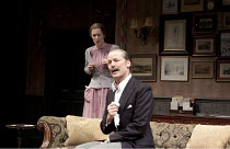 TABLE NO. 7 - SEPARATE TABLES   by Terence Rattigan   design: Stephen Brimson-Lewis   lighting: Paul Pyant   director: Philip Franks ~Gina McKee (Sibyl Railton-Bell), Iain Glen (Major Pollock)~Chiches...