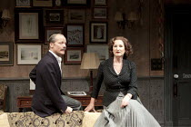 TABLE NO. 7 - SEPARATE TABLES   by Terence Rattigan   design: Stephen Brimson-Lewis   lighting: Paul Pyant   director: Philip Franks ~Iain Glen (Major Pollock), Deborah Findlay (Miss Cooper)~Chicheste...