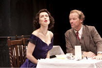 TABLE BY THE WINDOW - SEPARATE TABLES   by Terence Rattigan   design: Stephen Brimson-Lewis   lighting: Paul Pyant   director: Philip Franks ~Gina McKee (Anne Shankland), Iain Glen (John Malcolm)   ~C...