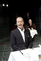 SEPARATE TABLES   by Terence Rattigan   design: Stephen Brimson-Lewis   lighting: Paul Pyant   director: Philip Franks ~l-r: Iain Glen (Major Pollock), Deborah Findlay (Miss Cooper), Josephine Tewson...