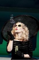 BREAKFAST AT TIFFANY'S   by Truman Capote   stage adaptation by Samuel Adamson   design: Anthony Ward   lighting: Bruno Poet   director: Sean Mathias   Anna Friel (Holly Golightly) Theatre Royal Hay...