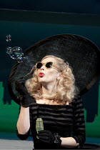 BREAKFAST AT TIFFANY'S   by Truman Capote   stage adaptation by Samuel Adamson    design: Anthony Ward   lighting: Bruno Poet   director: Sean Mathias   Anna Friel (Holly Golightly) Theatre Royal H...