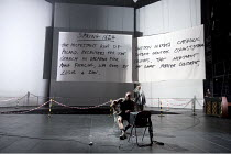 MOTHER COURAGE AND HER CHILDREN   by Brecht   in a translation by Tony Kushner   set design: Tom Pye   costumes: Ruth Myers   lighting: Jean Kalman   director: Deborah Warner   pre-play introduction...