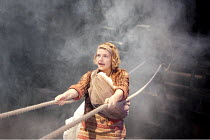 THE CAUCASIAN CHALK CIRCLE   by Brecht   in a new translation by Alistair Beaton   design: Colin Richmond   lighting: Chris Davey   director: Nancy Meckler ~Matti Houghton (Grusha)~a West Yorkshire Pl...