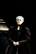 THE WHITE DEVIL   by John Webster   design & direction: Philip Prowse   lighting: Gerry Jenkinson ~Eleanor Bron (Isabella) ~Olivier Theatre / National Theatre (NT), London SE1      18/06/1991