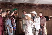 ANNIE GET YOUR GUN   music & lyrics: Irving Berlin   book: Herbert & Dorothy Fields   set design: Ultz   costumes: Nicky Gillibrand   lighting: Mimi Jordan Sherin   director: Richard Jones ~front, l-r...