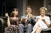 ABSENT FRIENDS  by Alan Ayckbourn  director: Peter James <br> ~l-r: Cherith Mellor (Marge), Gary Bond (Colin), Susie Blake (Diana)   ~Lyric Hammersmith (LTH), London W6  30/07/1992