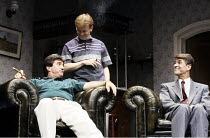 ABSENT FRIENDS  by Alan Ayckbourn  director: Peter James <br> ~l-r: Michael Melia (Paul), John Salthouse (John), Gary Bond (Colin) ~Lyric Hammersmith (LTH), London W6  30/07/1992
