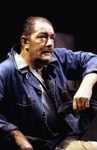A VIEW FROM THE BRIDGE   by Arthur Miller   set design: Alan Tagg   costumes: Lindy Hemming   lighting: Mick Hughes   director: Alan Ayckbourn ~Michael Gambon (Eddie Carbone)   ~National Theatre produ...