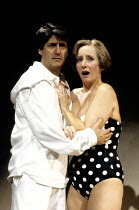 THE RIDE DOWN MT. MORGAN   by Arthur Miller   director: Michael Blakemore ~~Tom Conti (Lyman), Gemma Jones (Theo)~Wyndham's Theatre, London WC2            31/10/1991~(c) Donald Cooper/Photostage   pho...