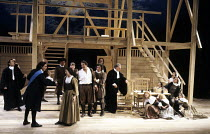 THE CRUCIBLE   by Arthur Miller   design: William Dudley   lighting: Chris Parry   director: Howard Davies ~front left: Paul Shelley (Deputy-Governor Danforth)   centre: Tom Wilkinson (John Proctor)...